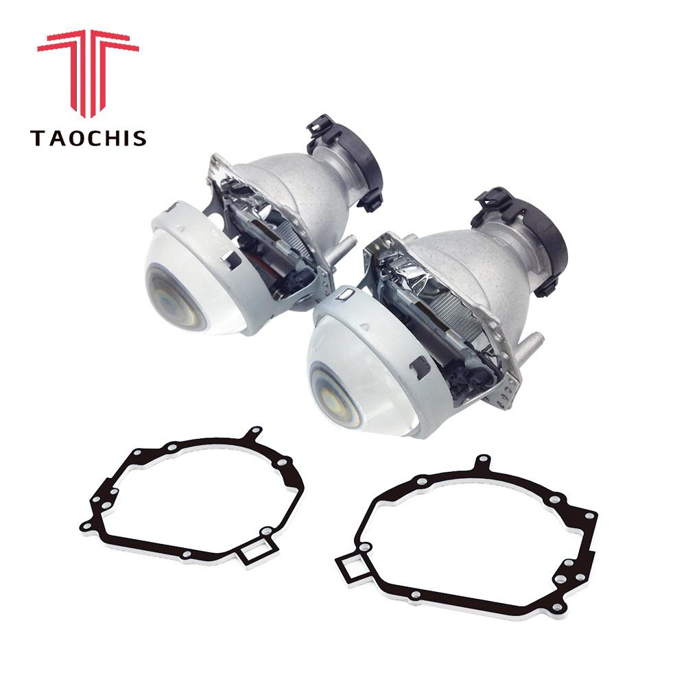 TAOCHIS style de voiture transition cadre adaptateur Hella 3R G5 Projecteur objectif rénovation Support pour HYUNDAI SANTA FE II 2006-2012