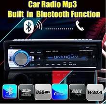 Frete grátis!! car radio stereo player embutido bluetooth e microfone do telefone aux-em mp3 para iphone 12 v carro audio auto 2014 novo