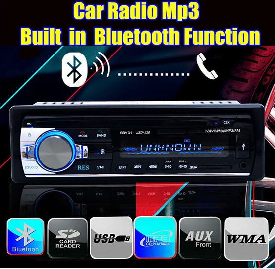 Free shipping font b Car b font Radio Stereo Player built in Bluetooth and microphone Phone