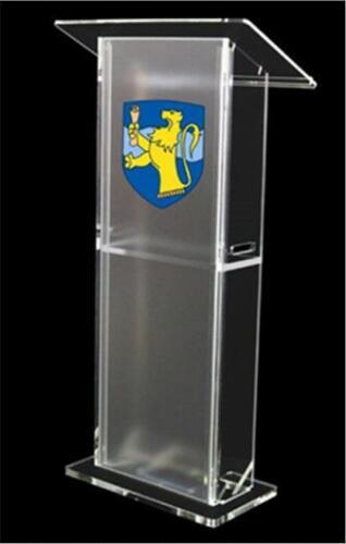 Pulpit Furniture Free Shipping Detachable Cheap Acrylic Church Lectern Modern Design Workshop Series