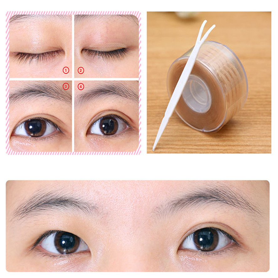 New Arrival kanbuder 300 Pairs Double Eyelid Sticker Lace Eye Lift Strips Double Eyelid Tape Adhesive Sticker Makeup Tool Size S
