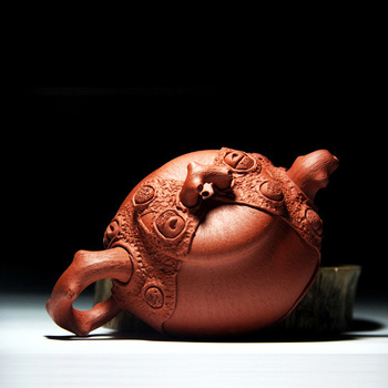 Sell authentic yixing are recommended by the manual red one dragon stone gourd ladle pot of kung fu tea set gift custom
