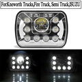 2pcs 55W sealed beam 7inch rectangle 5 X 7 7x6 truck replacement Headlights high/low beam for van Lorry off-road vehicles