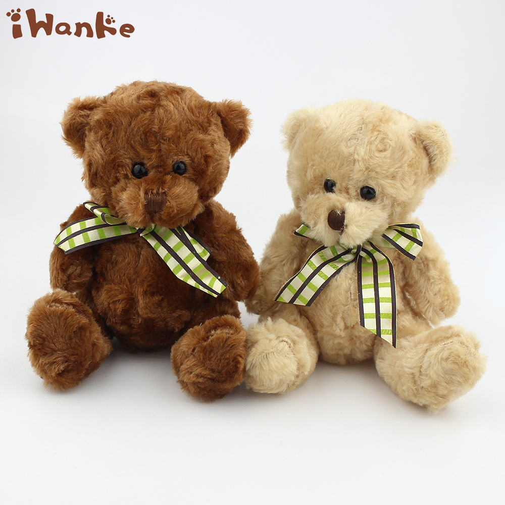 15cm Kawaii Teddy Bear Toys Stuffed Animals Dolls bow tie Bears for Baby Kids Christmas Wedding Gift 2 pieces/lot cartoon plush teddy bear toys jumbo stuffed dolls birthday to bears valentines for baby