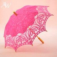 AW 3 Colors Wedding Umbrella Bride Parasol Umbrella Accessories For Wedding Bridal Shower Umbrella