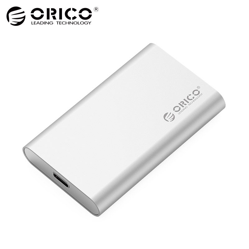 ORICO Type-C Mini mSATA SSD Enclosure Aluminum 5Gbps High-speed HDD Case for Laptop Desktop for Windows/Linux/Mac Screw Fixing universal msata mini ssd to 2 5 inch sata 22 pin converter adapter card for windows2000 xp 7 8 10 vista linux mac 10 os new