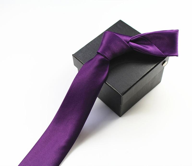 JEMYGINS Qualität Mens Krawatte Solide Plain 100% Seide Dünne - Bekleidungszubehör - Foto 5