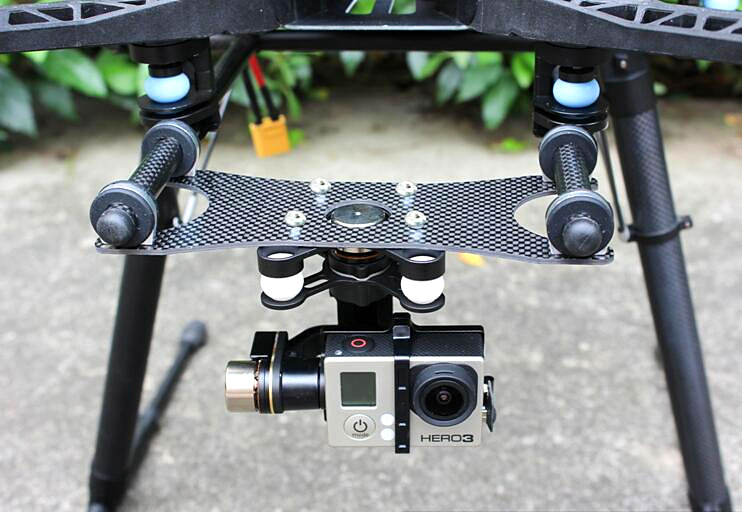 FPV PTZ GoPro Zenmuse H3-3D Gimbal Carbon Fiber Adapter Plate Mounting Board for  Spreading Wings S800,  S1000 / Tarot T810, dji phantom 2 build in naza gps with zenmuse h3 3d 3 axis gimbal for gopro hero 3 camera