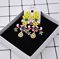 fashion new flower luxury yellow gem crystal baroque network exaggerated fashion gilt imitation women gifts earrings 368