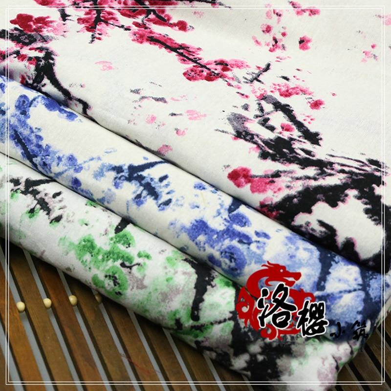 유체 인쇄 중국 스타일 hanfu 패브릭 소파 베개 장식 테이블 천으로 옷 직물