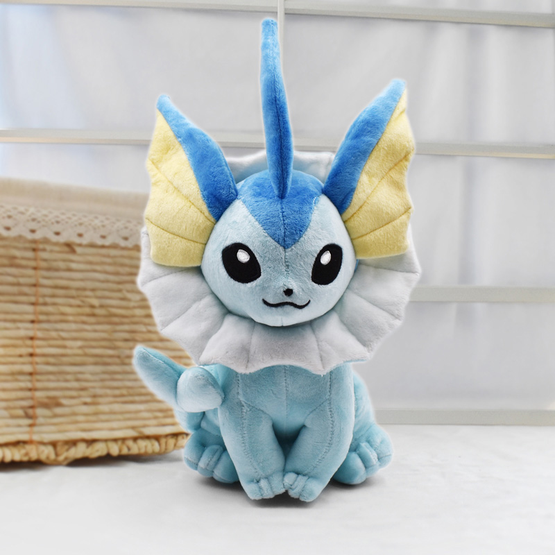 37cm Vaporeon Plush Toy Eevee Plush Doll Soft toy Classic Plush Hot Toys Christmas Gifts Baby Toys For Children Free Shipping free shipping pokemon plush toys 12 inch big sitting vaporeon soft stuffed animals toy collectible christmas gift