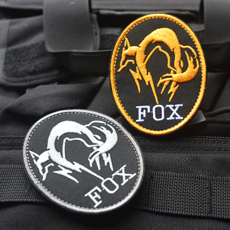 Black Metal Gear Solid MGS <font><b>FOX</b></font> <font><b>HOUND</b></font> Special Force Group Ghost Embroidered Patch