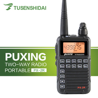 Professional Dual Receiver Two Way Radio Update Version PUXING PX 2R UHF 400 470MHz(UHF TX/RX VHF RX)