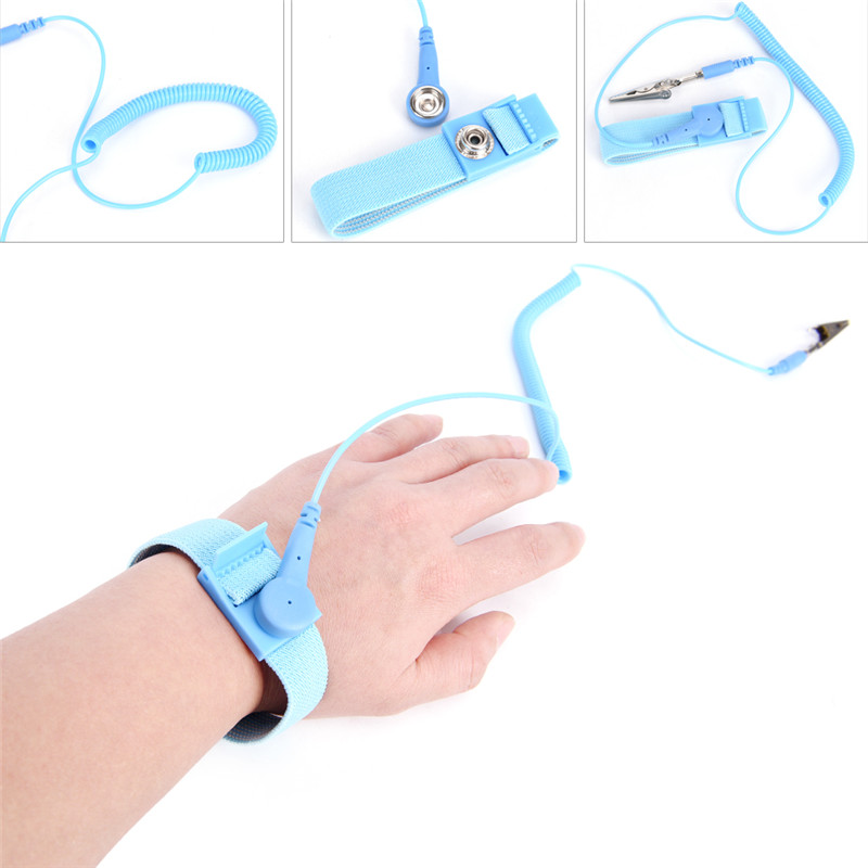 Power Tool Accessories Ingenious Adjustable Anti Static Bracelet Electrostatic Esd Discharge Cable Reusable Wrist Band Strap Hand With Grounding Wire Back To Search Resultstools
