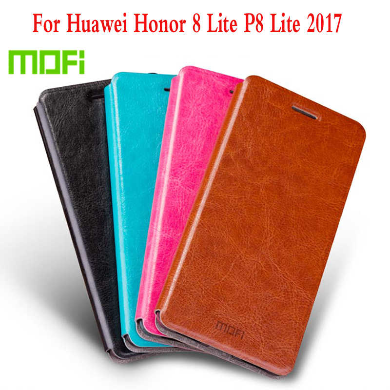 "M New Mofi For Huawei Honor 8 Lite 5.2"" Cell Phone Case Luxury Flip Leather Stand Cover Book Style Cover For Huawei Honor 8 Lite"