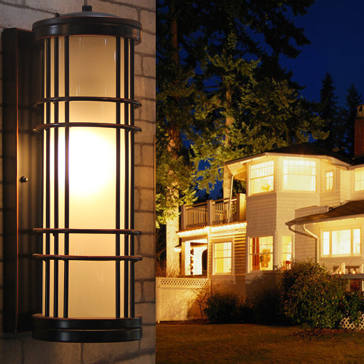 Large Vintage Outdoor Lighting Courtyard Wall Lamp Big Retro Glass Garden Light Balcoly Antique Waterproof Outdoor Wall Arandela