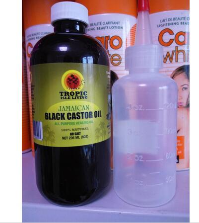 Ensoleillé Île Jamaïcaine huile de ricin noir cheveux croissance huile 8 oz