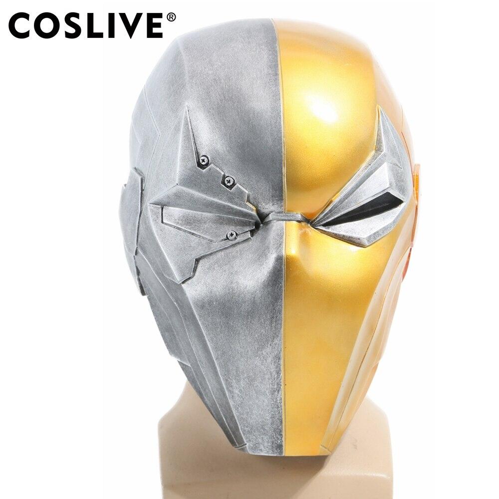 все цены на Coslive Deathstroke Helmet Mask Game Version Injustice Gods Among Us Cosplay Full Head Halloween Mask prop replica