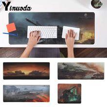 Yinuoda нескользящий ПК World Of Tanks индивидуальный Ноутбук игровой коврик для мыши Коврик для мыши Notbook компьютер крутой игровой коврик для мыши