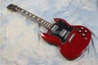 Bán Hot SG electric guitar. mahogany cây guitar. G 400 phiên bản. red màu, chất lượng cao SG guitar. miễn phí vận chuyển phần cứng chrome