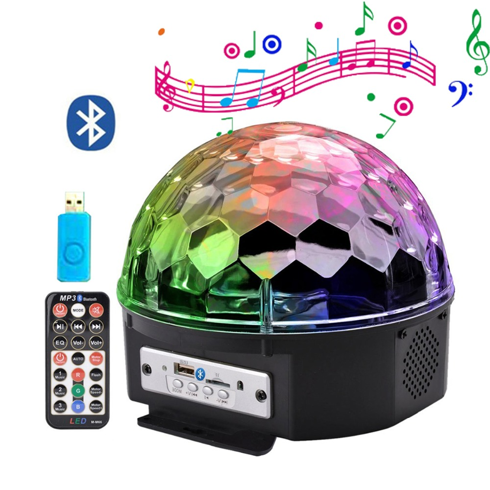 Thrisdar 9 Color Bluetooth Speaker Disco DJ Stage Light Mp3 Music Player Magic Ball Stage Lamp Voice Control Christmas ProjectorThrisdar 9 Color Bluetooth Speaker Disco DJ Stage Light Mp3 Music Player Magic Ball Stage Lamp Voice Control Christmas Projector