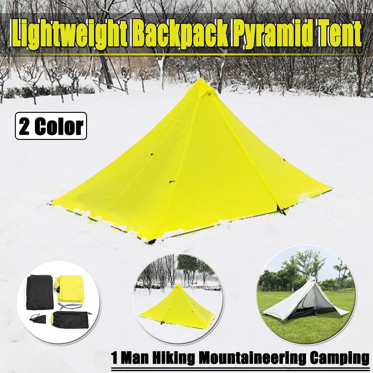 210 t Oudoor Lumière Poids Randonnée Ultra-Léger Camping Sans Tige Pyramide Tente Pour la Randonnée Camping Pêche Vent-ferme Étanche