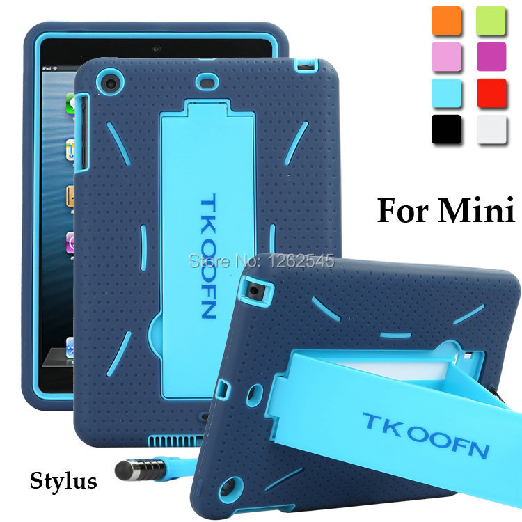 save off 571da b262f US $9.49 5% OFF|Shockproof Anti slip Case for Apple iPad Mini Heavy Duty  Case Silicone Hard Case Bracket Protect Tablet Shell for ipad mini-in  Tablets ...