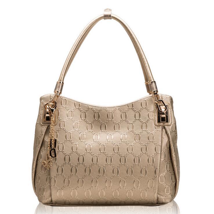 European women s shoulder bag fashion ladies handbags Genuine leather women bags