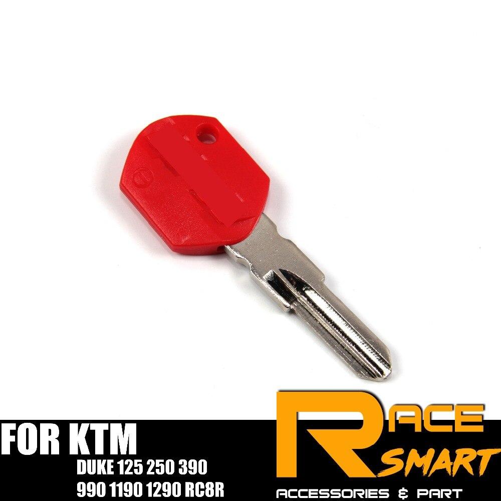 Motorcycle Uncut Blank Key For KTM DUKE 125 250 390 990 1190 1290 RC8R Blade Keys DUKE125 RC-8R RC 8R RC8-R