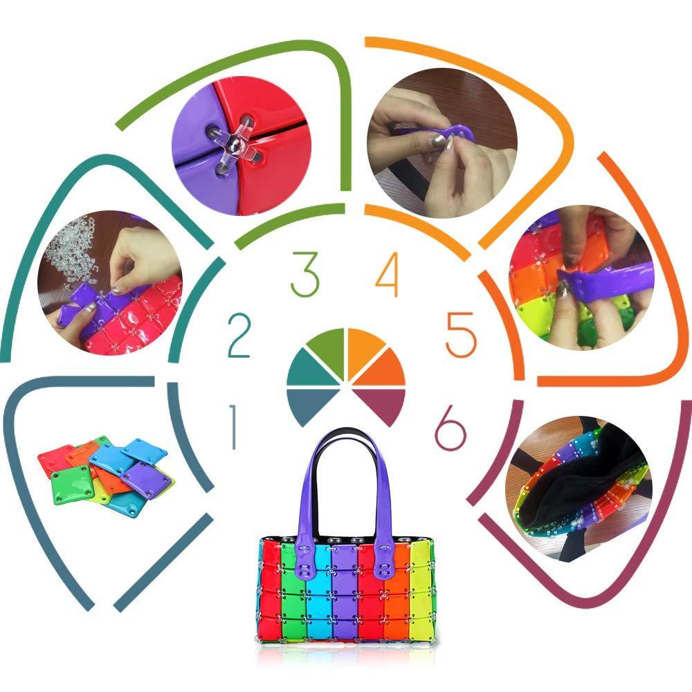 Arts & Crafts Kit for Girls, DIY Rainbow Handbag Fashion Purse, Best Gifts Idea for Birthday Xmas Christmas, Creative Girls Toys