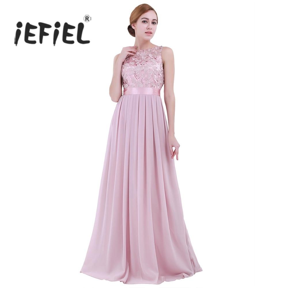 ba4d85ab32 Princesa Graduación pink Vestidos Formales De Bordado Cóctel Chifón  lavender Fiesta turquoise Blue Mujer Vestido Para ...