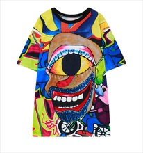 2016 Harajuku Women Horror T shirt Hipster Geek Character Printed T-shirts punk rock streetwear Short Sleeve Tops Tees Plus Size
