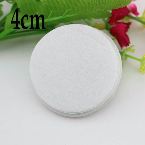 2017 White Color Round Felt fabric Pads Accessory Patches ircle Felt Pads,DIY Fabric Flower Accessories 1000pcs/lot