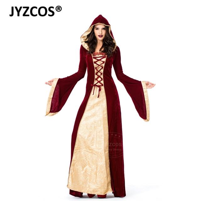 4cdc19b55af62 Medieval Dress Robe Princess Queen Costume Halloween Costume for Women  Renaissance Dress Velvet Court Maid Cosplay