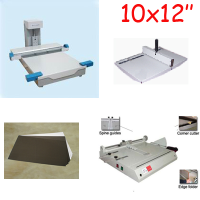 12inch Photobook Making Machines Package Flush Mount Album Maker Restaurant Menu Binding Machine Combo Kits aluminum wall mounted square antique brass bath towel rack active bathroom towel holder double towel shelf bathroom accessories