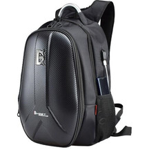 GHOST RACING Waterproof Motorcycle Bag Carbon Fiber Hard Shell Trunk Backpack Multifunction Computer Double Shoulder