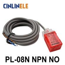 PL-08N 8 мм Измерение постоянного тока NPN NO Cube shell для индуктивного экрана Тип датчик приближения LP08 датчик приближения 17*17*35