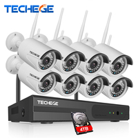 CCTV System 720P 8ch HD Wireless NVR Kit Outdoor IP66 Night Vision IP Camera Wifi Camera