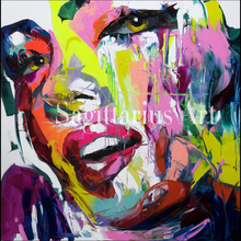 High quality portrait Palette knife Francoise Nielly Designers Living Room Decoration Hand Painted Oil Painting Canvas Pop Art