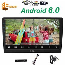 """Wireless waterproof rearview camera+Quad Core 10.1"""" Multi-angle rotation Android 6.0 Double din 2 din car radio player no DVD"""