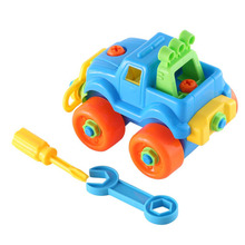 Hot 3pcs Classic Assembly Car Toy Early Educational Learning Build Block Motorcycle Toy Kits Kids Birthday