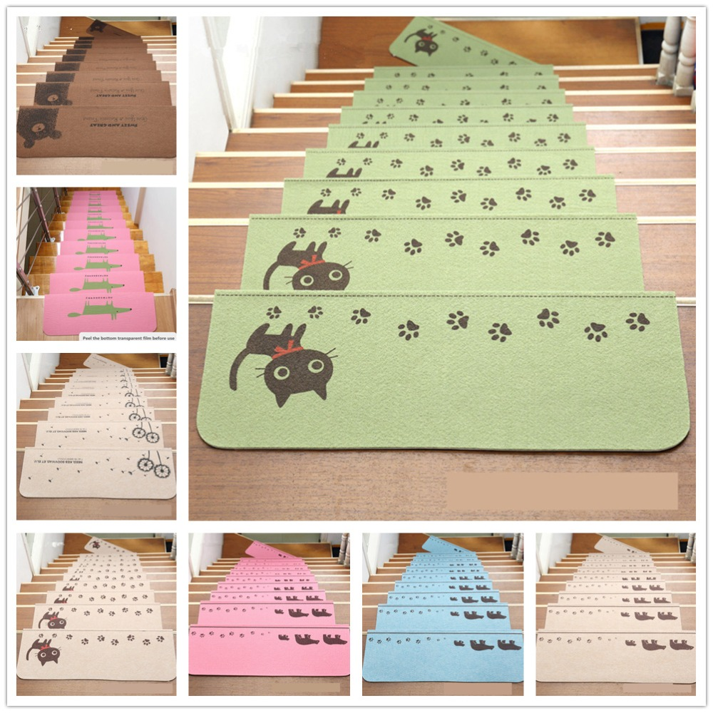 Home Decor 5pcs Carpets Luminous Visual Stair Pads Antislip Noise insulation Floor Area Rug Latex Stairs Decor Warm Stairs Mat