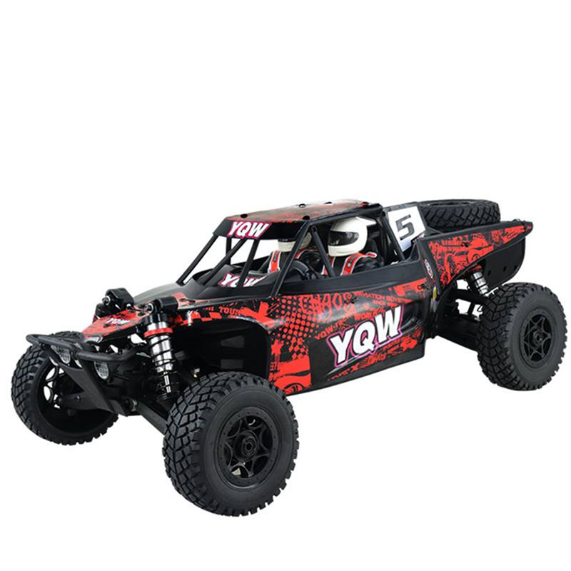 YQW 1/8 2.4G 4WD Red Rc Car Frame Off-Road Desert Truck Model without Electronic Parts Outdoor Remote Control Car for Kids GiftYQW 1/8 2.4G 4WD Red Rc Car Frame Off-Road Desert Truck Model without Electronic Parts Outdoor Remote Control Car for Kids Gift