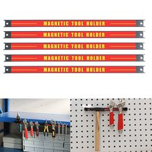 "8"" 11"" 14.5""18"" 24"" Magnetic Tool Holder Bar Organizer Storage Rack Knife Wrench Pliers hand Tool Storage(China)"
