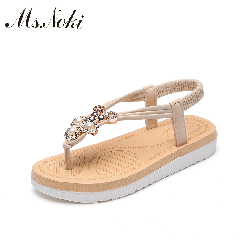 New Arrival Women Aandals Summer Fashion Flip Flops Female Sandals Flat Shoes Bohemia Causal Ladies Women Shoes Ms.Noki