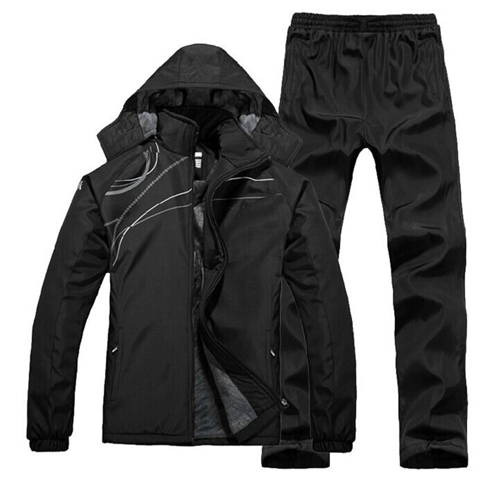 Men Tracksuit Sport Suit Winter Fleece Thick Windproof Jacket Hoodies+pants Male Running Jogging Casual Set Sportswear Plus Size аккумулятор nano tech аналог bp 5z 900 mah для nokia 700
