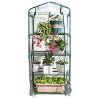 Portable 4 Tier Mini Greenhouse Rack Stands Garden Green House for Outdoor and Indoor