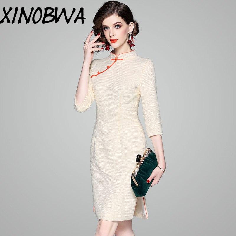 70bbc6df2e Offre-sp-ciale-nouveau-femmes-automne-printemps -haute-couture-bouton-am-lior-Cheongsam-Antique-mi-mollet.jpg