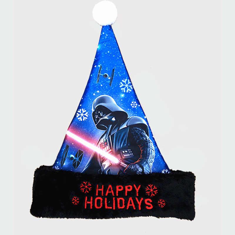 Малыш взрослых с Рождеством Мультяшные плюшевые Атлас шляпы принцессы Минни Маус человек-паук детская Рождественская шапка подарок Санта Клаус Hat