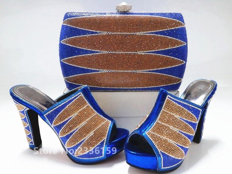 Ensemble Italien Mariage rouge Et Noir Femmes or Designers Strass Arrivée Correspondant vert bleu Avec Nouvelle Chaussures De Nigérian Sac Luxe wq7HPPft